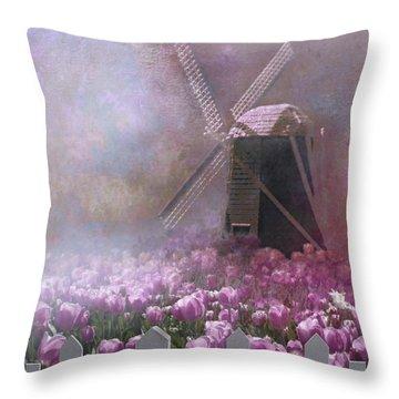 Skagit Valley In Spring Throw Pillow