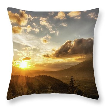 Skagit Valley Sunset Throw Pillow