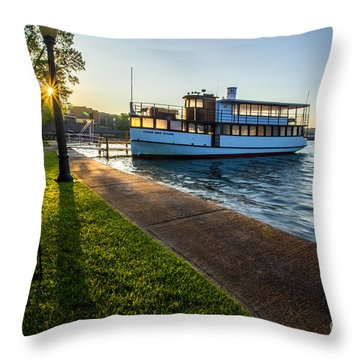 Skaneateles Lake Sunrise Throw Pillow