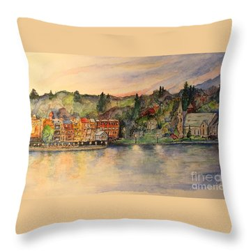 Skaneateles Ny Throw Pillow