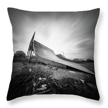 Throw Pillow featuring the photograph Skate Ramp Pinhole Photo  by Will Gudgeon
