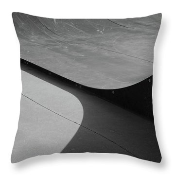 Throw Pillow featuring the photograph Skateboard Ramp by Richard Rizzo