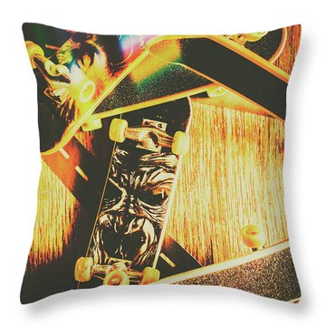 Skateboarding Tricks And Flips Throw Pillow