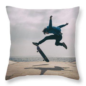 Skater Boy 003 Throw Pillow