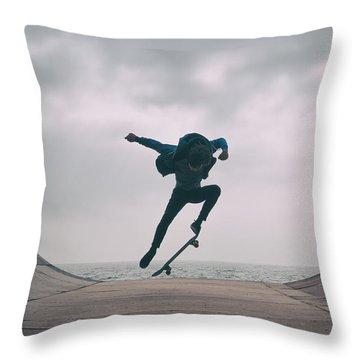 Skater Boy 004 Throw Pillow