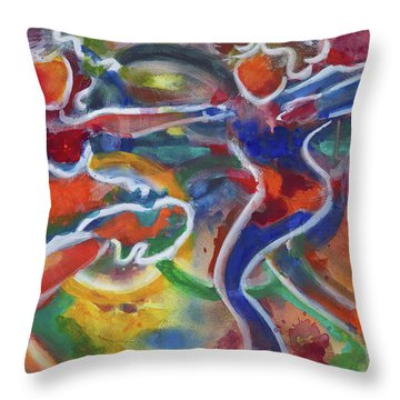 Skaters Gold Medalist Throw Pillow