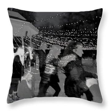 Skaters Throw Pillow