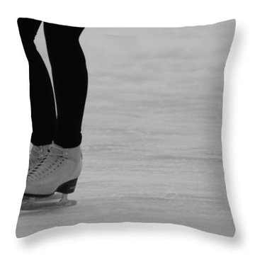 Skating II Throw Pillow by Lauri Novak