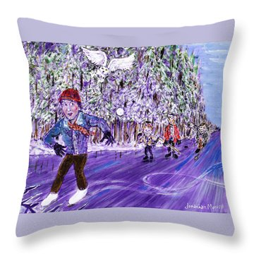 Skating On Thin Ice Throw Pillow