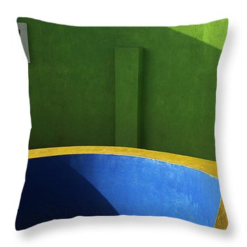 Skc 0305 The Fundamental Colors Throw Pillow by Sunil Kapadia