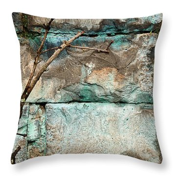 Skc 2510 Worn Out  Throw Pillow by Sunil Kapadia