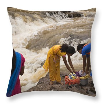 Skc 2621 A Collective Task Throw Pillow by Sunil Kapadia