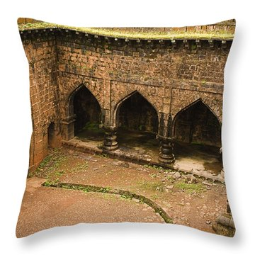 Skc 3278 The Ancient Courtyard Throw Pillow by Sunil Kapadia