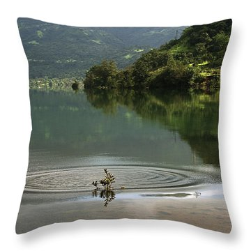 Skc 3996 At The Edge Of A Circle Throw Pillow by Sunil Kapadia