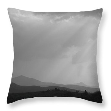 Skc 4928 Blessings Are Showering Throw Pillow by Sunil Kapadia