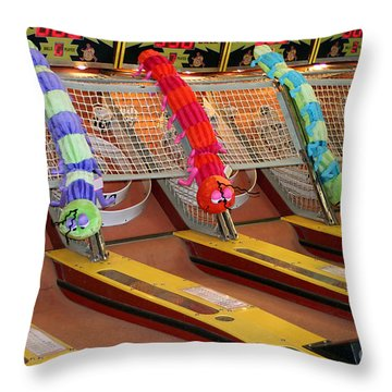 Skee Ball Lanes Throw Pillow