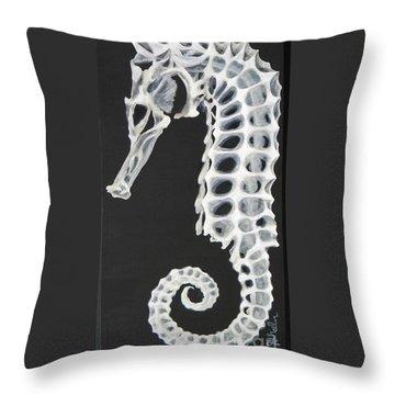 Skelehorse Throw Pillow