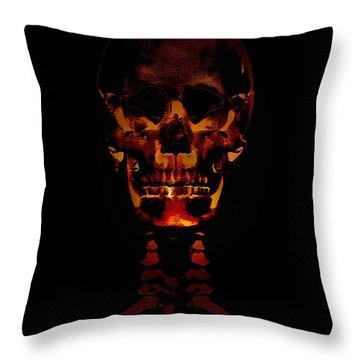 Skeleton - Halloween Selfie Throw Pillow