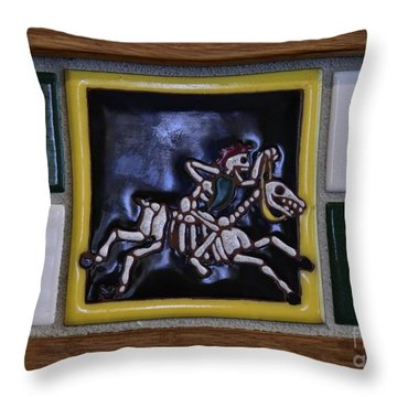 Skeleton Horse Throw Pillow