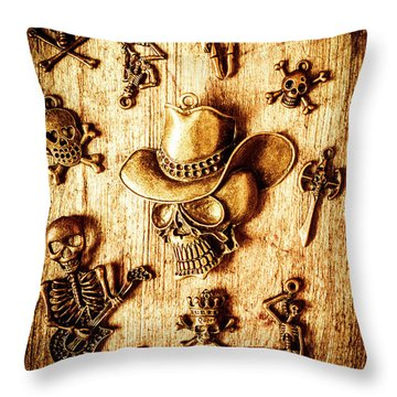 Throw Pillow featuring the photograph Skeleton Pendant Party by Jorgo Photography - Wall Art Gallery