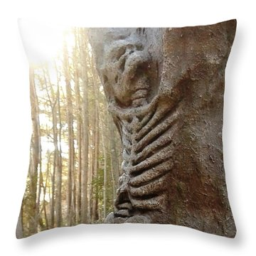 Skeleton Tree Throw Pillow