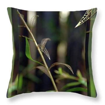 Skeletons And Skin Throw Pillow