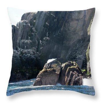 Skellig Islands 3 Throw Pillow