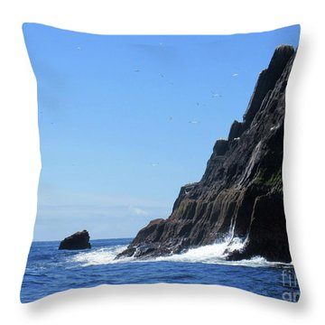 Skellig Islands 4 Throw Pillow