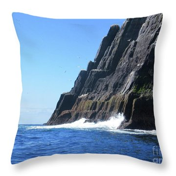 Skellig Islands 5 Throw Pillow