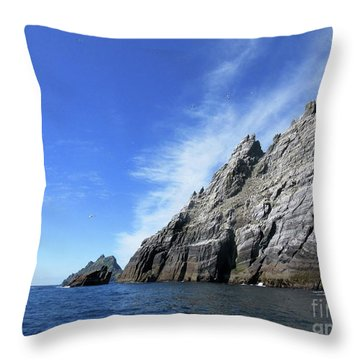 Skellig Islands 7 Throw Pillow