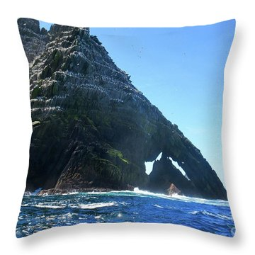 Skellig Islands Throw Pillow
