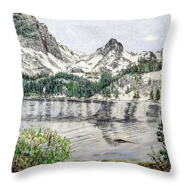 Throw Pillow featuring the painting Skelton Lake by Kevin Daly