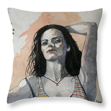 Sketch For Lucy Throw Pillow by Ray Agius