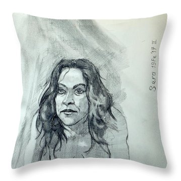 Sketch For Sera.10.01 Throw Pillow by Ray Agius