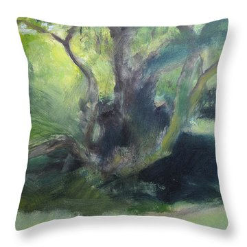 Sketch Of A Shady Glade. Throw Pillow by Harry Robertson