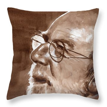 Sketch Of Bill Throw Pillow
