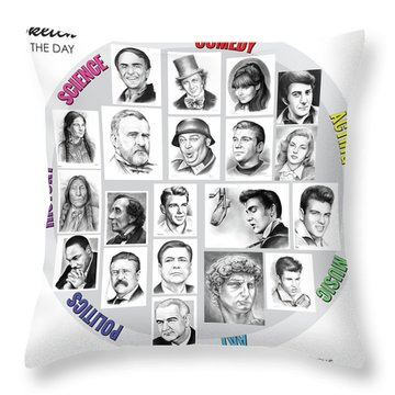 Sketch Of The Day Throw Pillow