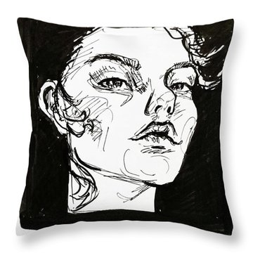 Sketchbook Scribbles Throw Pillow