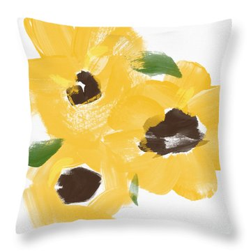 Sketchbook Sunflowers- Art By Linda Woods Throw Pillow