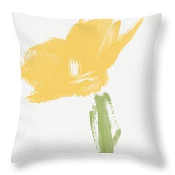 Sketchbook Yellow Rose- Art By Linda Woods Throw Pillow