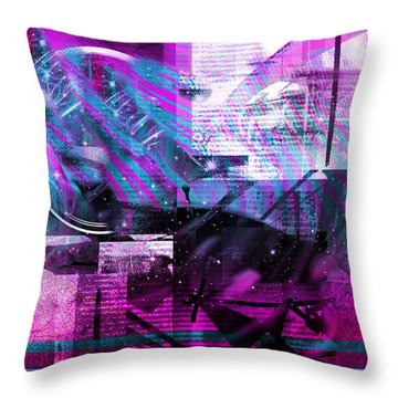 Sketching Flying Stars.. Throw Pillow