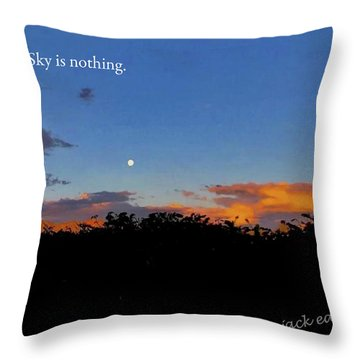Skg Is Nothing Throw Pillow by Jack Eadon