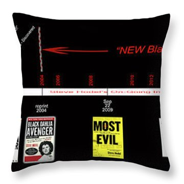 Skh Black Dahlia Inv. Time Line Throw Pillow