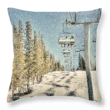 Ski Colorado Throw Pillow