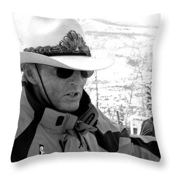 Ski Legend Billy Kidd Throw Pillow