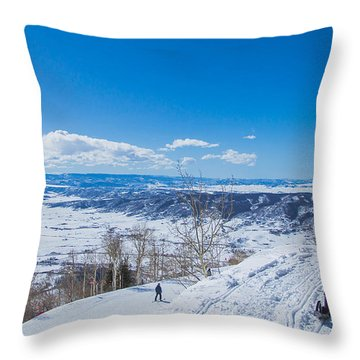 Ski Patrol Throw Pillow