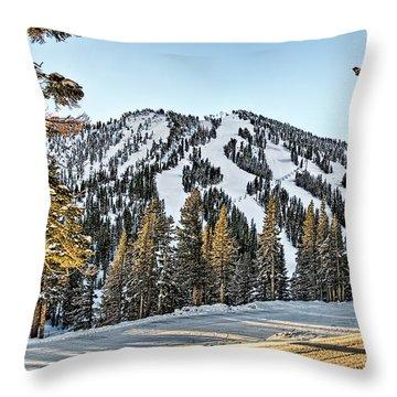 Ski Runs Throw Pillow