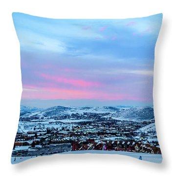 Ski Town Throw Pillow