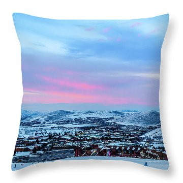 Ski Town Throw Pillow