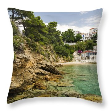 Skiathos Island Greece Throw Pillow